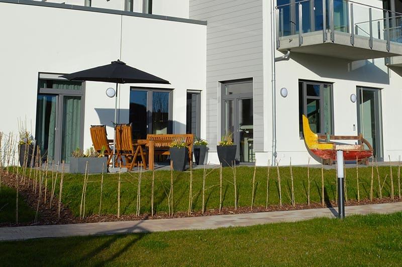 Garten Ferienwohnung Meerzeitperle Rügen