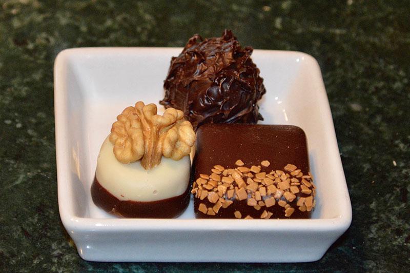 Pralinen in der Schokoladen-Manufaktur Choco la vie